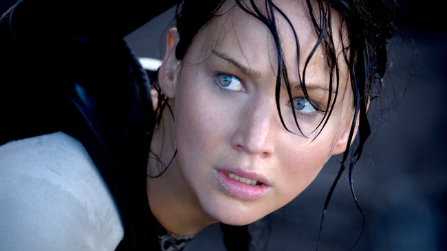 Jennifer Lawrence en el rol de Katniss Everdeen