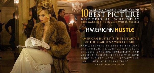 Jennifer Lawrence leyendo el guión para American Hustle