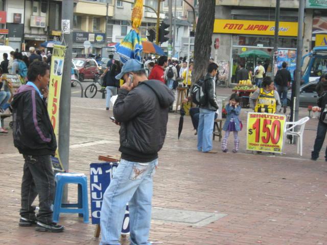 Minutero en Bogotá