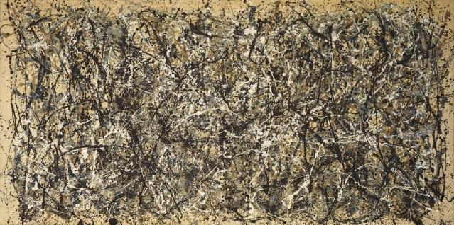 """One: Number 31, 1950"", por Jackson Pollock, 1950."